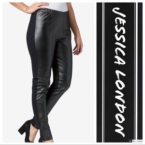 Jessica London Stretch Leather Front Spandex/Pants